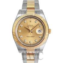 勞力士 (Rolex) Datejust II Champagne/18k gold Ø41 mm - 116333