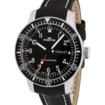 Fortis B-42 Official Cosmonaut Day/date Wr 200m Blk Leather...