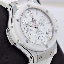 Hublot Big Bang Chronograph 41mm White Ceramic Bezel Watch...