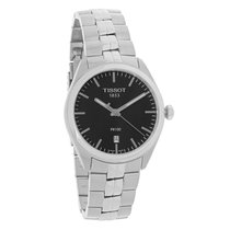 Tissot Mens PR 100 Black Dial SS Dress Watch T101.410.11.051.00