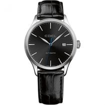 Ebel 1216089 Classic Automatic in Steel - on Black Leather...
