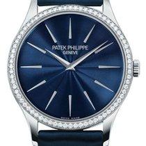 Patek Philippe 4897G-001 Calatrava Ladies 33mm Blue Index...