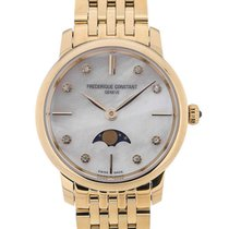 Frederique Constant Slim Line Moonphase Gold Plated Strap...