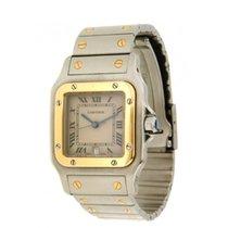 Cartier Santos 1566, Qaurtz Yellow Gold-steel. 29 Mm