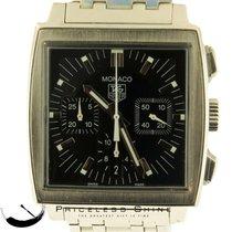 TAG Heuer Monaco Men's Automatic Chronograph Black Dial...