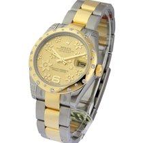 Rolex Unworn 178343 2-Tone Midsize Datejust with 24 Diamond...