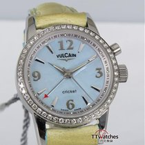 Vulcain Cricket Lady Classic 1951 Diamonds Mop Dial New Old Stock