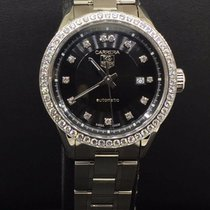 TAG Heuer Carrera Ladies Steel Diamond Bezel Black Diamond...