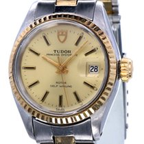Tudor Princess Oysterdate Lady Watch Gold Steel 24 mm