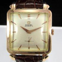 Omega Vintage Automatic Rose Gold Oversized Square