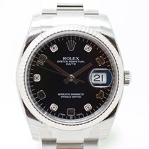 Rolex Oyster Perpetual Date 34mm  Diamond Ref.115234 TEW