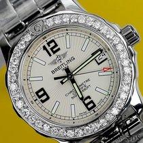 Breitling Womens Diamond Breitling Colt 33mm White Color Dial...