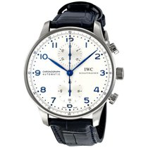 IWC Portuguese Chronograph Automatic White Dial Mens Watch...