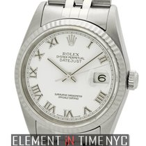 Rolex Datejust Stainless Steel White Roman Dial F Serial Ref....