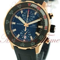 IWC Aquatimer Automatic Chronograph, Black Dial - Rose Gold on...