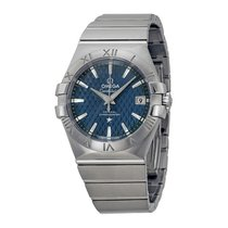 Omega Constellation Co-Axial Automatic Blue Dial Stainless...