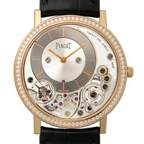 Piaget Altiplano 18 K Rose Gold With Diamonds Gray Manual Wind...
