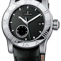 Corum 61320.012001 Romulus Steel - Steel on Strap with Black Dial