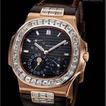 Patek Philippe 5724R Nautilus Rose Gold and Baguette Diamond