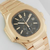 Patek Philippe 5980/1R Nautilus Black Dial 18kt Rose Gold NEW...
