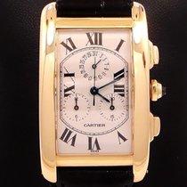 Cartier Tank American Jumbo 18k Yellow Gold Chronoreflex On...