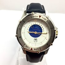 Krieger Stainless Steel Mens Watch W Tidal Chronometer 100m...