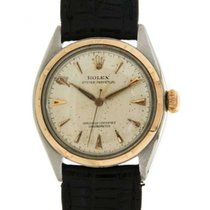 Rolex Oyster Perpetual 34mm Ovettone Bubble Back Yellow Gold...