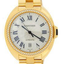 Cartier Cle Flinque Sunray 18K Solid Yellow Gold Automatic...