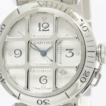Cartier Polished Cartier Pasha 38 Grid Steel Automatic Mens...