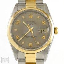 Rolex Uhr Date 34 mm Stahl/Gold Unisex Ref. 15203