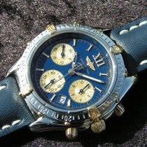 Breitling Jetstream B55048 Blaues Zifferblatt Stahl Gold Blue...