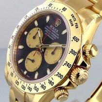 Rolex Daytona 116528 18k Yellow Gold Black Paul Newman On...