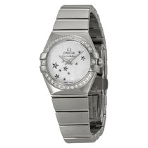 Omega Constellation Star Mother of Pearl Dial Stainless Steel...