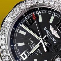 Breitling Womens Diamond Breitling Colt 33mm Black Color Dial...