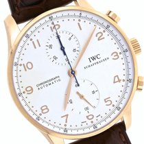 IWC Portuguese Chronograph 18K Rose Gold Brown Watch