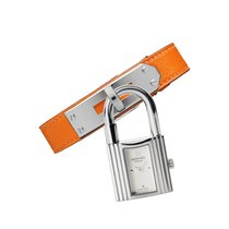 Hermès Kelly White Dial Orange Leather Ladies Watch 025744WW00