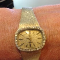 Omega 14K yellow gold diamond bracelet Omega watch