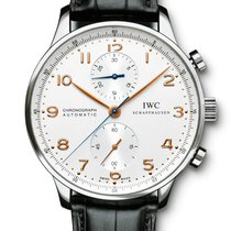 IWC PORTOGHESE CHRONOGRAPH 41mm SILVER DIAL T