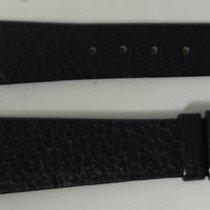 Movado vintage leather strap black  mm 20/14 newoldstock rare