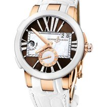 Ulysse Nardin Executive Dual Time in Riose Gold with White...
