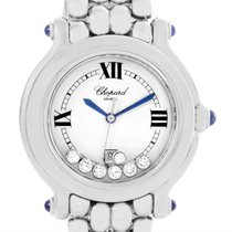 Chopard Happy Sport Floating Diamond Stainless Steel Watch...
