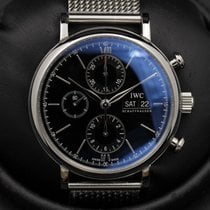 IWC Portifino - Chronograph - Black Dial - IW391008 - Complete...