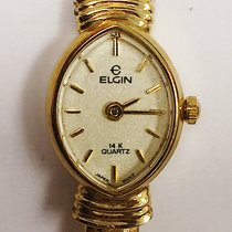 Elgin Elegant Ladies 14k Karat Yellow Gold Elgin Quartz Watch...
