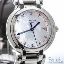 Longines PrimaLuna 30mm Steel Watch MOP Dial Diamond Markers...