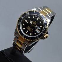 "Rolex Submariner Date Engraved ""M"" serial 18K Gold/Steel"