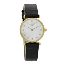 Longines Grand Classique Ladies MOP Black Leather Watch...