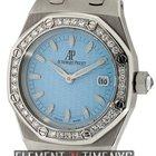 Audemars Piguet Royal Oak Ladies Stainless Steel Diamond Bezel...