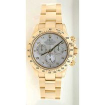 Rolex Daytona 116528 18K Yellow Gold With Factory White Mother...