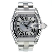 Cartier Roadster Gmt Stainless Steel Automatic Silver Dial...