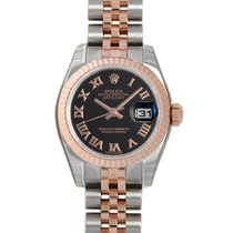 Rolex Lady Datejust Chocolate Diamond Dial Steel and 18K